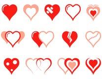 Geplaatste de Pictogrammen van het hart royalty-vrije illustratie