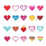 Geplaatste de Pictogrammen van het hart Royalty-vrije Stock Afbeelding