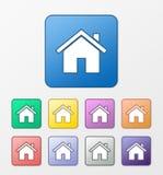 Geplaatste de pictogrammen van het huis Royalty-vrije Stock Afbeelding
