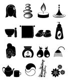 Geplaatste de pictogrammen van het kuuroord Royalty-vrije Stock Afbeeldingen