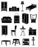 Geplaatste de pictogrammen van het meubilair Royalty-vrije Stock Afbeeldingen
