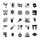 Geplaatste de pictogrammen van het nieuwjaar vector illustratie