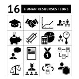 Geplaatste de pictogrammen van het personeelsbeheer Stock Afbeeldingen