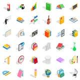 Geplaatste de pictogrammen van het sportonderwijs, isometrische stijl Stock Foto's
