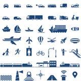 Geplaatste de pictogrammen van het vervoer Royalty-vrije Stock Afbeeldingen