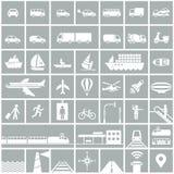 Geplaatste de pictogrammen van het vervoer Royalty-vrije Stock Fotografie
