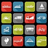 Geplaatste de pictogrammen van het vervoer Royalty-vrije Stock Foto's