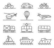 Geplaatste de pictogrammen van het Vervoer van de stad Stock Fotografie