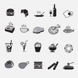 Geplaatste de pictogrammen van het voedsel Royalty-vrije Stock Afbeelding