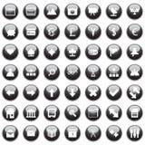 Geplaatste de pictogrammen van het Web Stock Foto's
