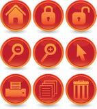 Geplaatste de pictogrammen van het Web Stock Afbeeldingen