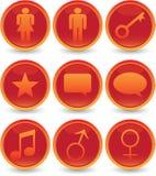 Geplaatste de pictogrammen van het Web Royalty-vrije Stock Afbeeldingen