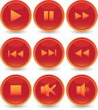 Geplaatste de pictogrammen van het Web Stock Foto