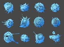 Geplaatste de pictogrammen van het Web vector illustratie