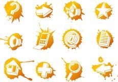Geplaatste de pictogrammen van het Web Stock Afbeelding