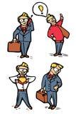 Geplaatste de pictogrammen van het zakenmanbeeldverhaal Stock Foto