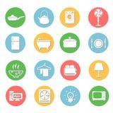Geplaatste de pictogrammen van huistoestellen Royalty-vrije Stock Foto