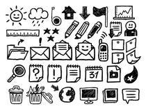 Geplaatste de pictogrammen van Internet Royalty-vrije Stock Afbeeldingen
