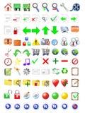 Geplaatste de Pictogrammen van Internet Royalty-vrije Stock Foto's