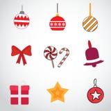 Geplaatste de Pictogrammen van Kerstmis Stock Foto's