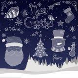 Geplaatste de Pictogrammen van Kerstmis Royalty-vrije Stock Foto
