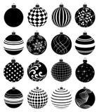 Geplaatste de pictogrammen van Kerstmisballen royalty-vrije illustratie