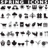 Geplaatste de pictogrammen van de lente Stock Fotografie