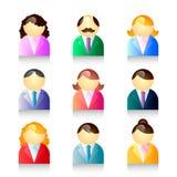 Geplaatste de pictogrammen van mensen Royalty-vrije Stock Afbeeldingen