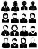 Geplaatste de pictogrammen van mensen royalty-vrije illustratie