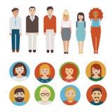 Geplaatste de pictogrammen van mensen Royalty-vrije Stock Foto