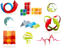 Geplaatste de pictogrammen van onroerende goederen Stock Foto