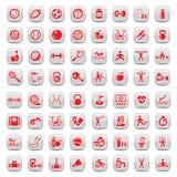 Geplaatste de pictogrammen van sporten Royalty-vrije Stock Foto