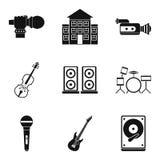 Geplaatste de pictogrammen van stadiumprestaties, isometrische stijl Stock Foto's