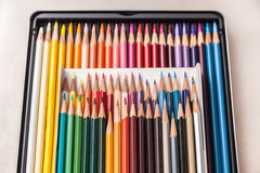Geplaatste de potloden van de kleur Royalty-vrije Stock Afbeelding