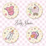 geplaatste de punten van het babymeisje Royalty-vrije Stock Foto