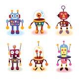 Geplaatste de robots van het beeldverhaal vector illustratie