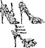 Geplaatste de schoenen van de manier Royalty-vrije Stock Fotografie