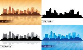 Geplaatste de silhouetten van de de stadshorizon van Memphis Royalty-vrije Stock Fotografie