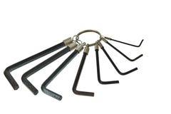 Geplaatste de sleutels van de hexuitdraai Royalty-vrije Stock Foto