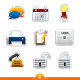 Geplaatste de sticker van het pictogram - Webalgemeen begrip Royalty-vrije Stock Foto's