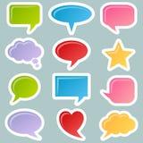 Geplaatste de Stickers van de Bellen van de toespraak Royalty-vrije Stock Afbeeldingen
