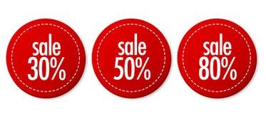 Geplaatste de stickers van de verkoop Royalty-vrije Stock Foto's