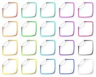Geplaatste de stickers van het document stock illustratie