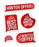 Geplaatste de stickers van de de winteraanbieding Royalty-vrije Stock Fotografie