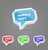 Geplaatste de stijl vectorbellen van het pixel Stock Fotografie