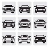 Geplaatste de symbolen van de auto Stock Afbeelding