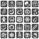 Geplaatste de symbolen van Kerstmis Royalty-vrije Stock Foto
