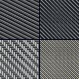 Geplaatste de vezel naadloze patronen van de koolstof Royalty-vrije Stock Afbeelding