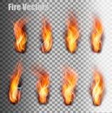 Geplaatste de Vlammen van de brand Vector vector illustratie