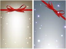 Geplaatste de winter feestelijke achtergronden stock illustratie